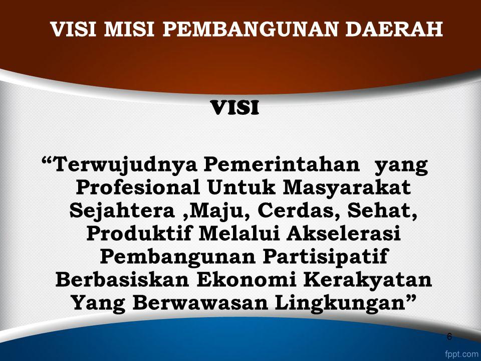 MISI 1.Mewujudkan Birokrasi Yang Profesional,kredibel, Responsif Dan Bertanggung Jawab.