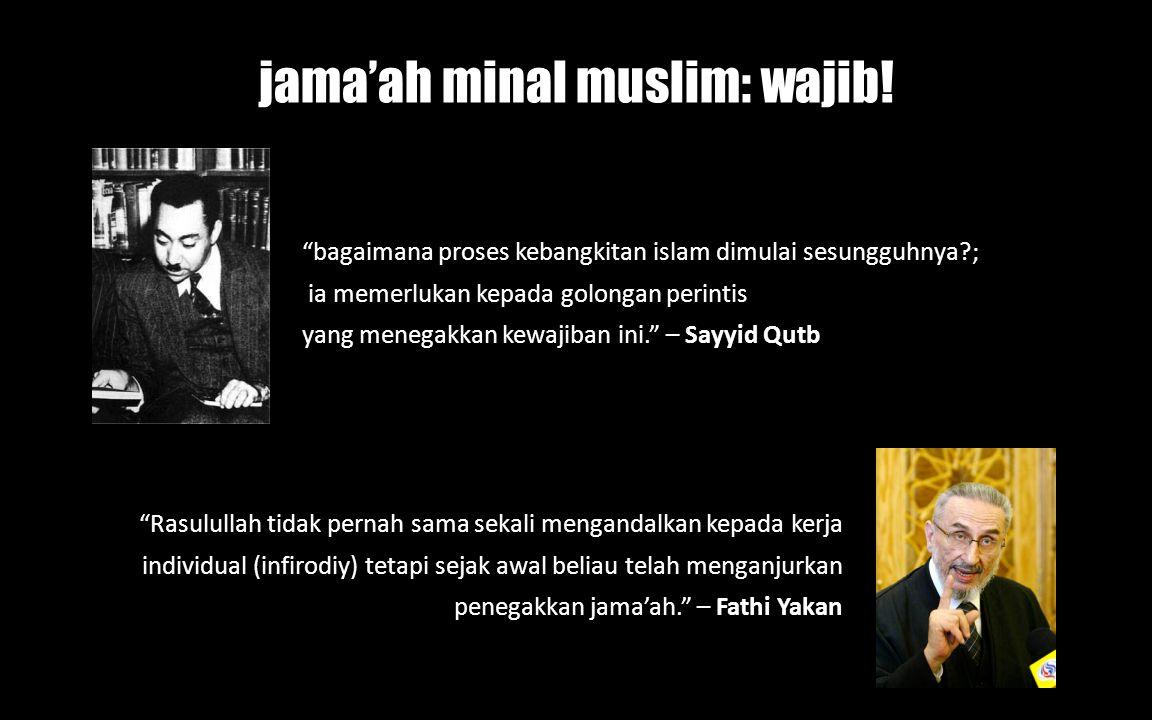 """""""bagaimana proses kebangkitan islam dimulai sesungguhnya?; ia memerlukan kepada golongan perintis yang menegakkan kewajiban ini."""" – Sayyid Qutb """"Rasul"""