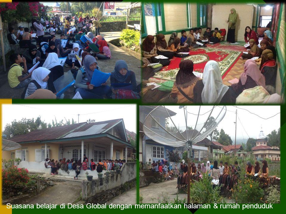 Suasana belajar di Desa Global dengan memanfaatkan halaman & rumah penduduk