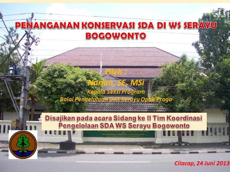 Oleh : Narjan, SE, MSi Kepala Seksi Program Balai Pengelolaan DAS Serayu Opak Progo Cilacap, 24 Juni 2013