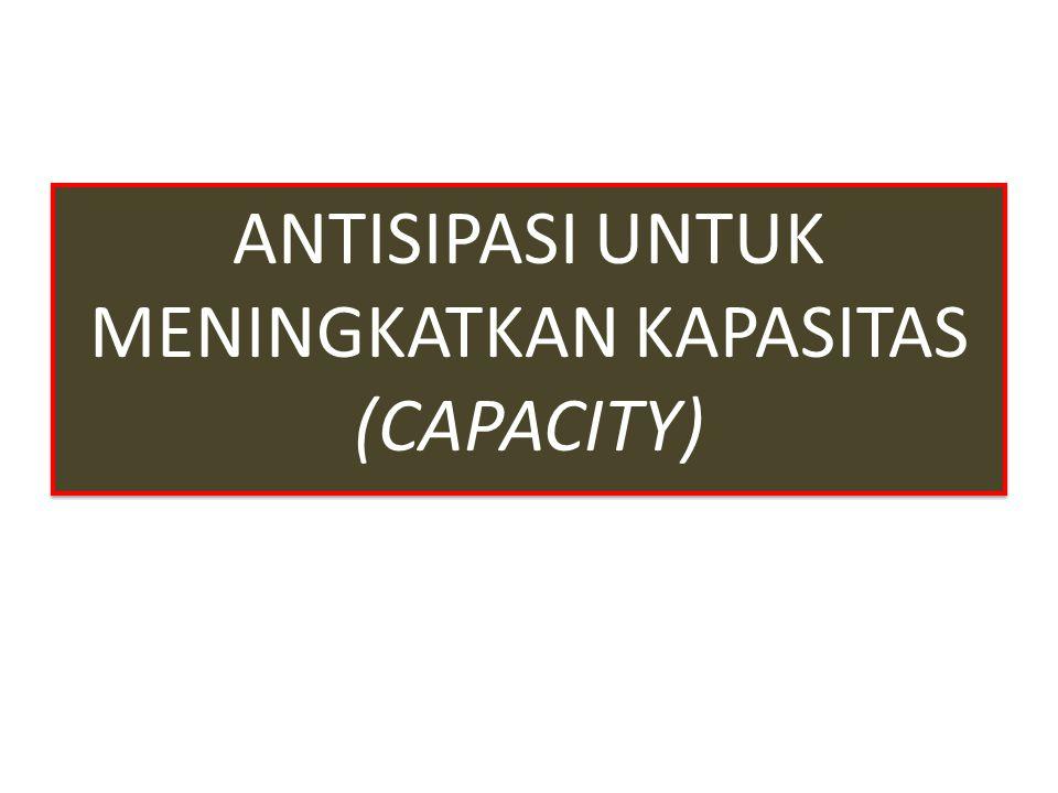 ANTISIPASI UNTUK MENINGKATKAN KAPASITAS (CAPACITY) ANTISIPASI UNTUK MENINGKATKAN KAPASITAS (CAPACITY)