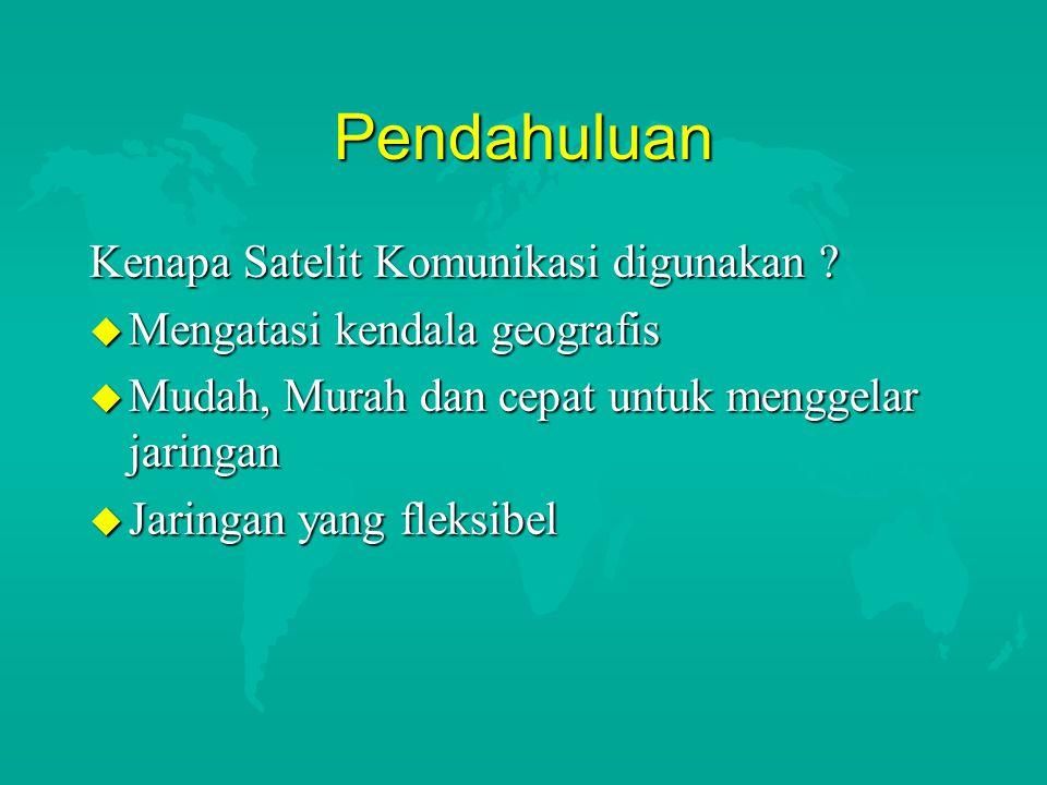 Sejarah Komunikasi Satelit di Indonesia Tahun 1976 : u Palapa Generasi A diluncurkan u Antenna Stasiun Bumi +/- 10 Meter u Pancaran ke satelit dengan daya besar u Komunikasi SCPC fm (suara analog) u Trafik yang sangat besar u Umumnya digunakan untuk publik