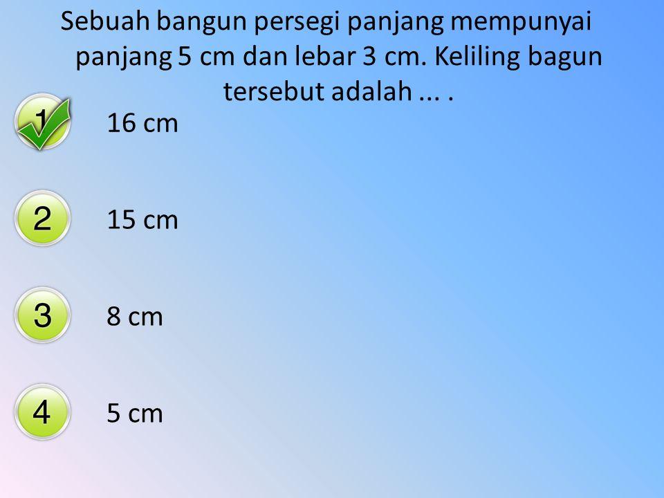 Sebuah bagun datar persegi panjang mempunyai lebar 6 dm. Jika luasnya adalah 42 dm, maka panjangnya adalah.... 152 dm 8 dm 7 dm 4 dm