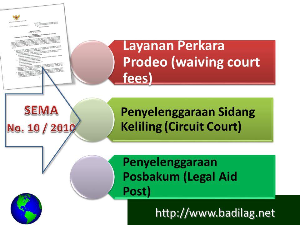 http://www.badilag.net JUKNIS SEMA 10/2010 DI PENGADILAN AGAMA Tuada Uldilag dan Sekretaris Mahkamah Agung kemudian menerbitkan Petunjuk Pelaksanaan Surat Edaran Mahkamah Agung RI No.