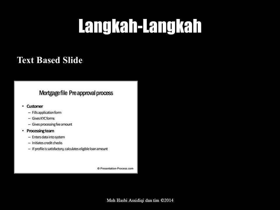 Langkah-Langkah Text Based Slide Moh Hasbi Assidiqi dan tim ©2014