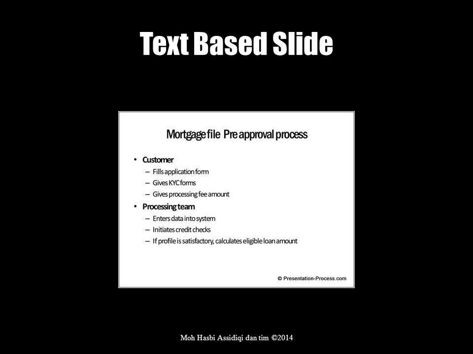 Text Based Slide Moh Hasbi Assidiqi dan tim ©2014