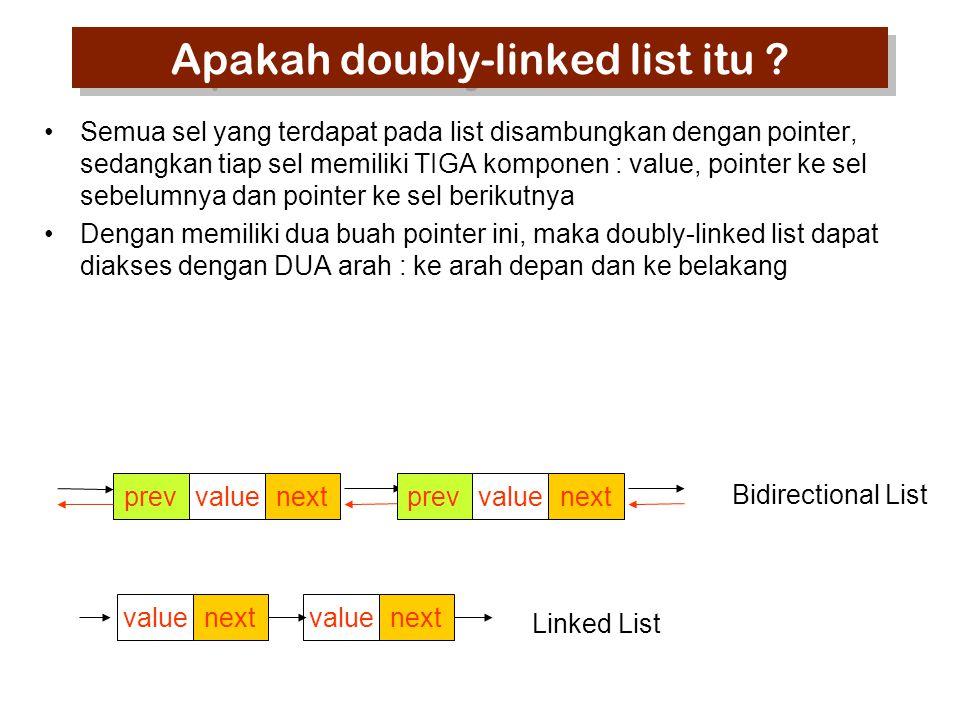 Apakah doubly-linked list itu .