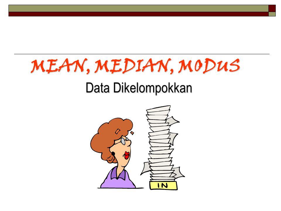 MEAN, MEDIAN, MODUS Data Dikelompokkan