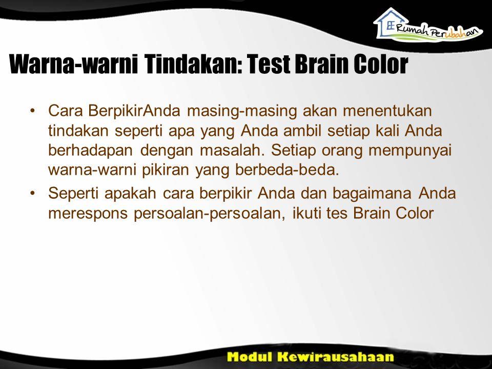 Warna-warni Tindakan: Test Brain Color Cara BerpikirAnda masing-masing akan menentukan tindakan seperti apa yang Anda ambil setiap kali Anda berhadapa
