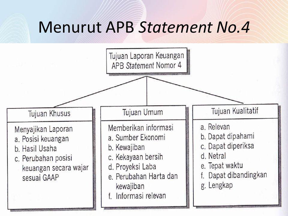 Menurut APB Statement No.4