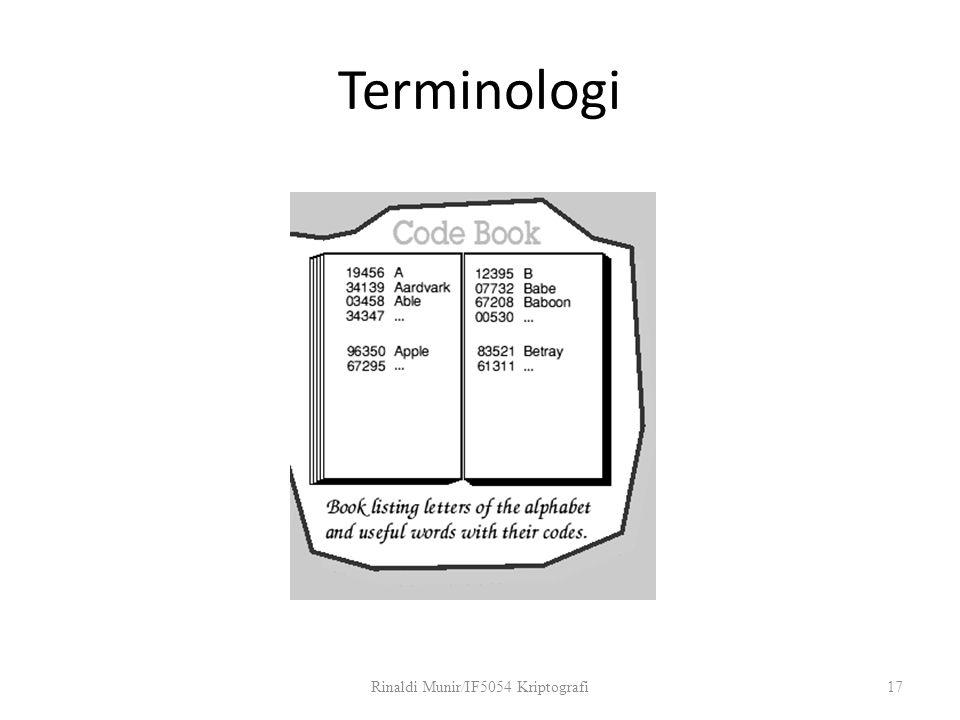 Terminologi Rinaldi Munir/IF5054 Kriptografi17