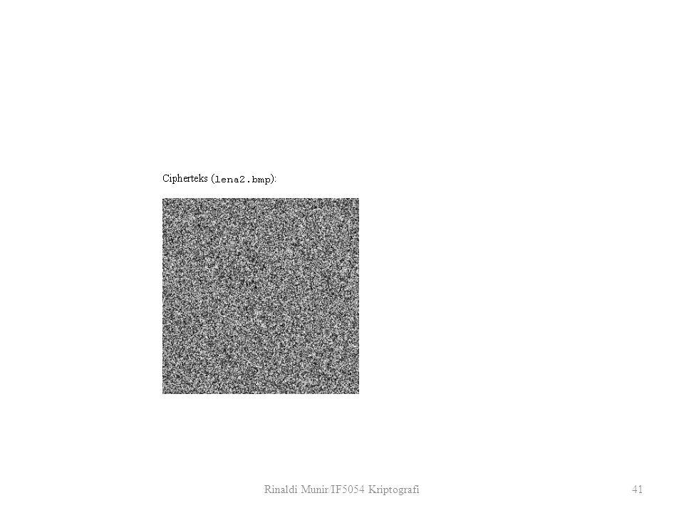 Rinaldi Munir/IF5054 Kriptografi41