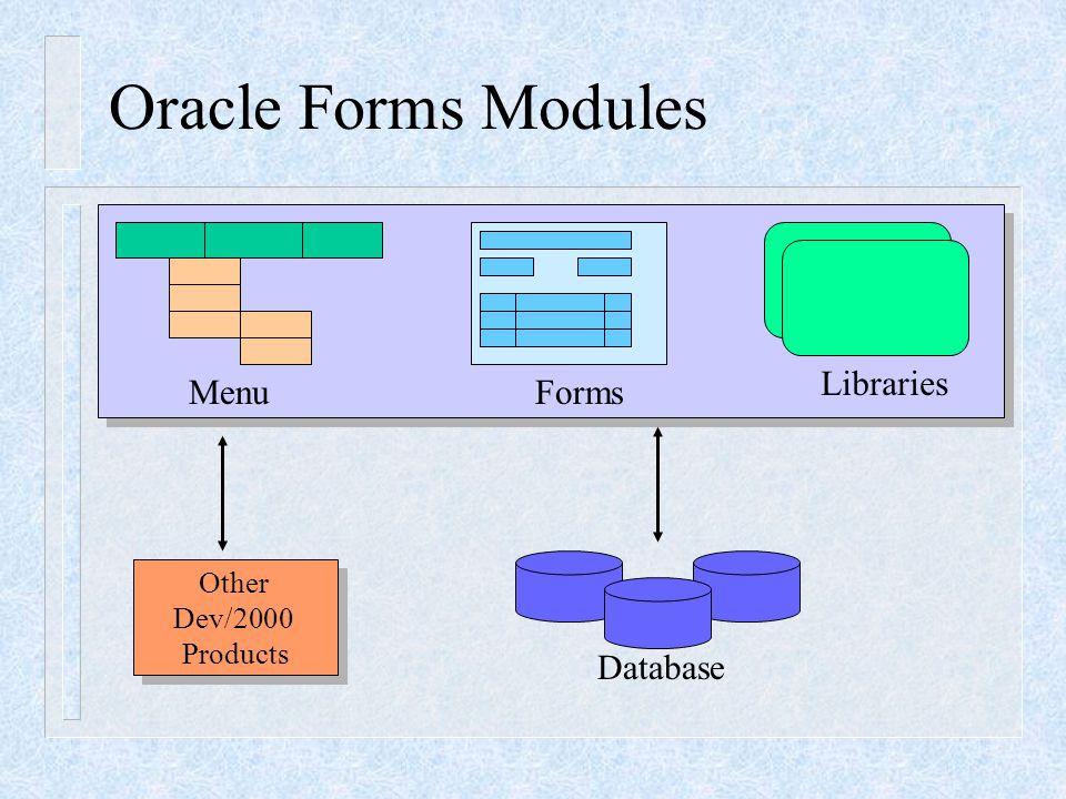 GUI Oracle Forms Designer Open Save Run Debug Add Delete