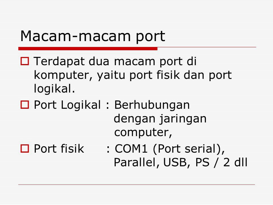 Gambar Port di Komputer Port Sound