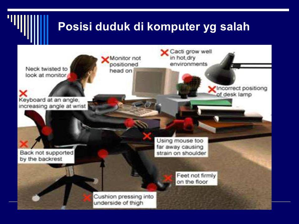 Posisi duduk di komputer yg benar