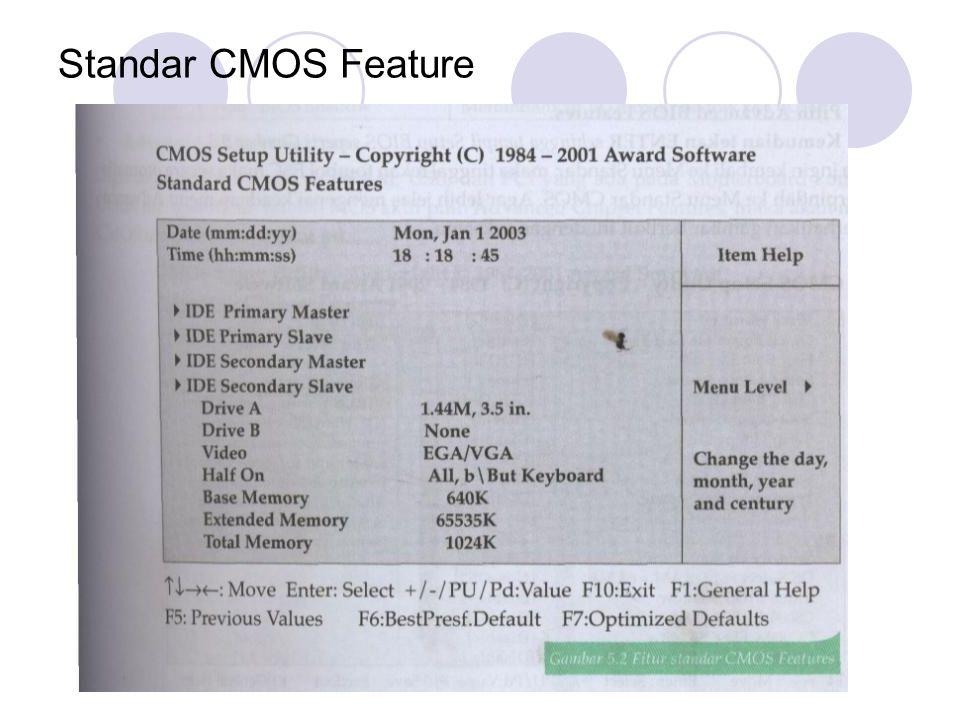 Standar CMOS Feature