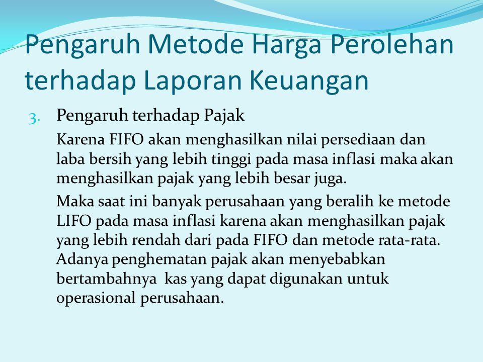Pengaruh Metode Harga Perolehan terhadap Laporan Keuangan 3.