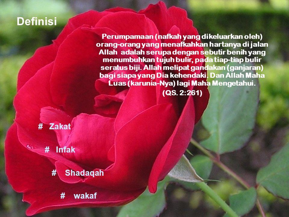 Perumpamaan (nafkah yang dikeluarkan oleh) orang-orang yang menafkahkan hartanya di jalan Allah adalah serupa dengan sebutir benih yang menumbuhkan tu