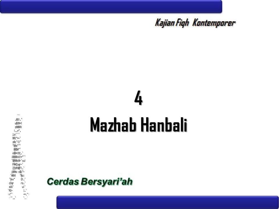 4 Mazhab Hanbali