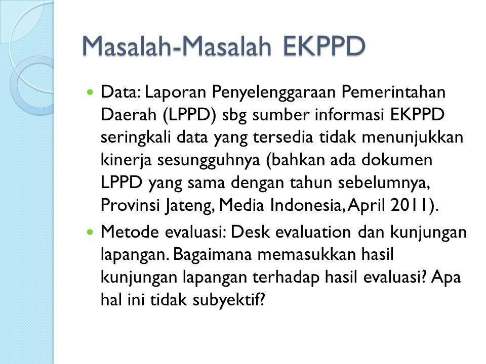 Peringkat Kinerja Daerah berdasarkan LPPD Tahun 2009 Provinsi: Sulawesi Utara (1), Sulawesi Selatan (2) dan (3) Jawa Tengah.