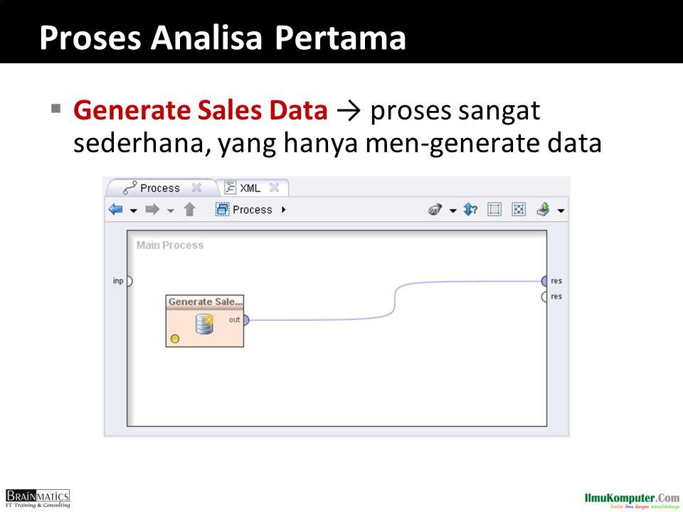  Generate Sales Data → proses sangat sederhana, yang hanya men-generate data