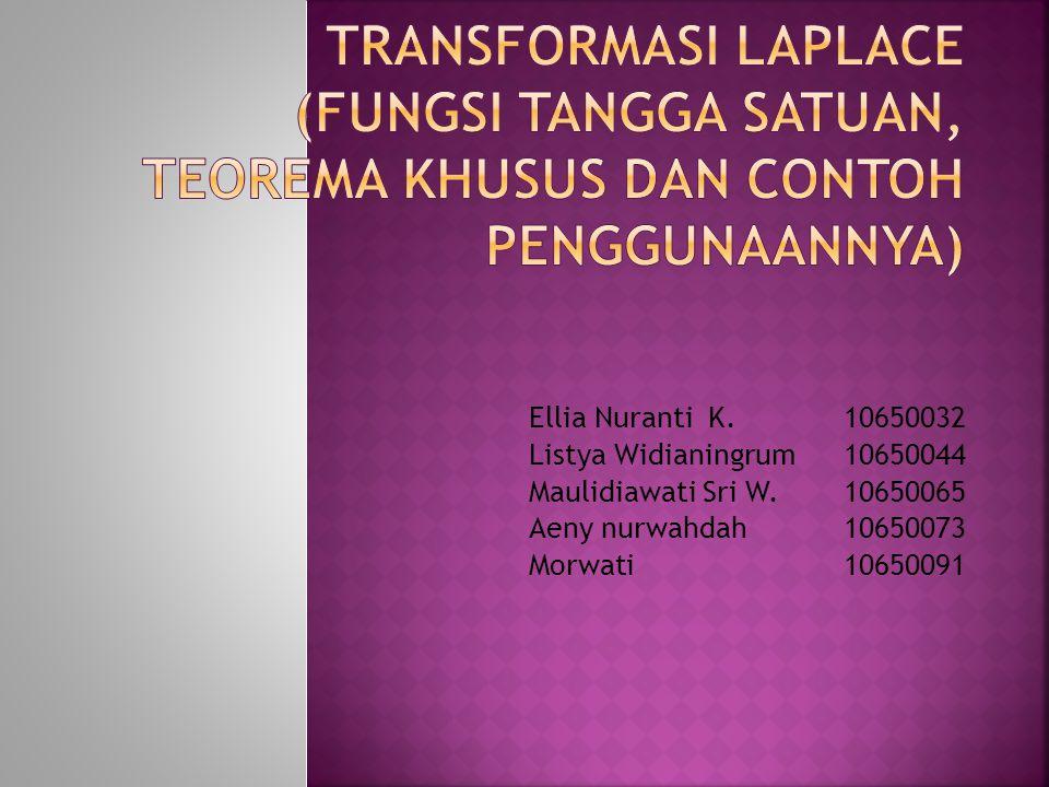 Ellia Nuranti K.10650032 Listya Widianingrum10650044 Maulidiawati Sri W.10650065 Aeny nurwahdah10650073 Morwati10650091