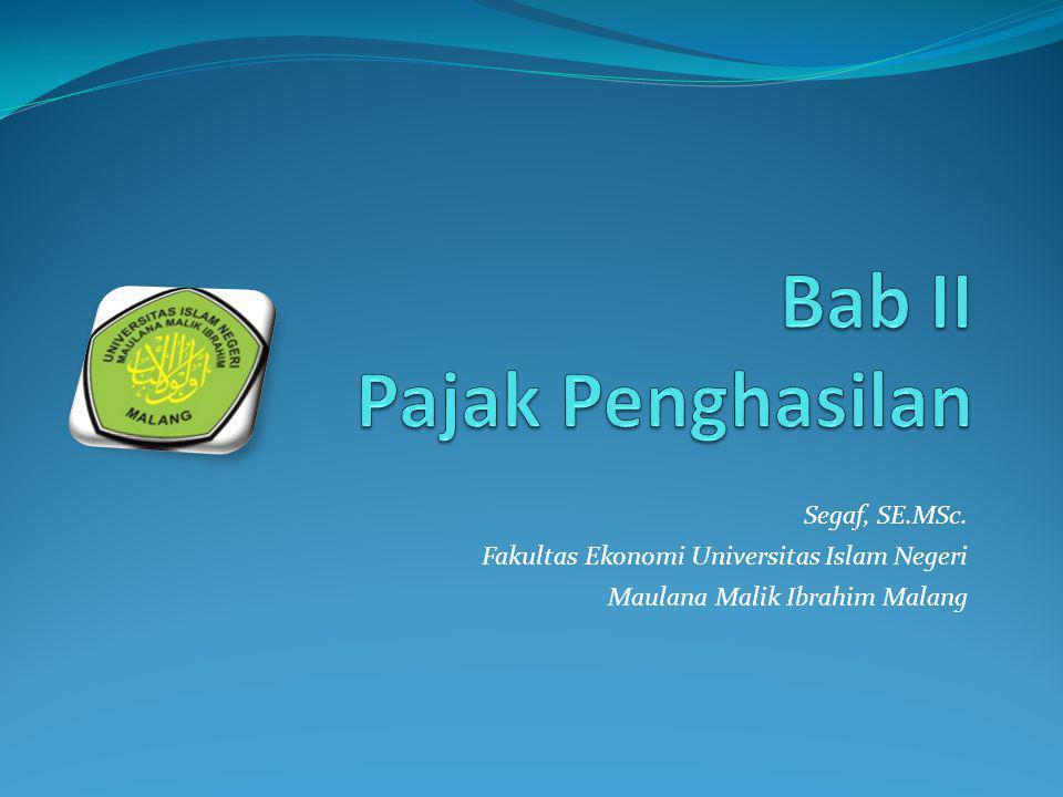 Segaf, SE.MSc. Fakultas Ekonomi Universitas Islam Negeri Maulana Malik Ibrahim Malang