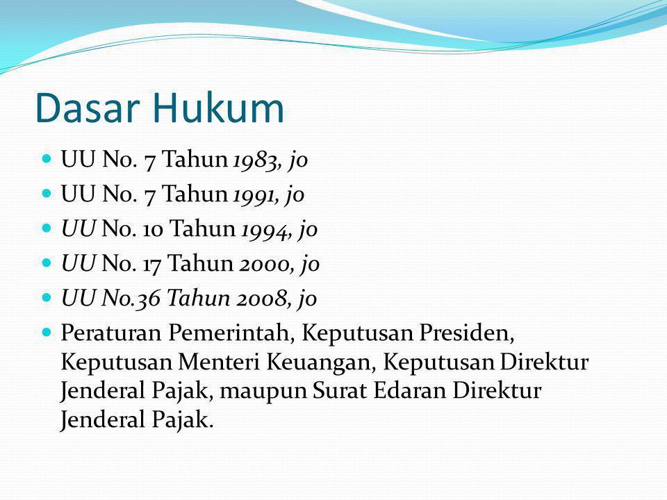 Contoh Tarif Pajak NoNamaJumlah PKPTarif 1LukmanRp.