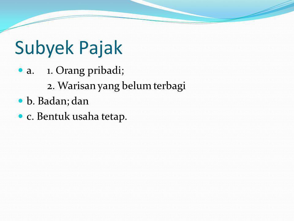 Latihan Tarif Pajak Berapakah tarif pajak untuk WP orang pribadi dalam negeri dengan jumlah penghasilan kena pajak Rp.