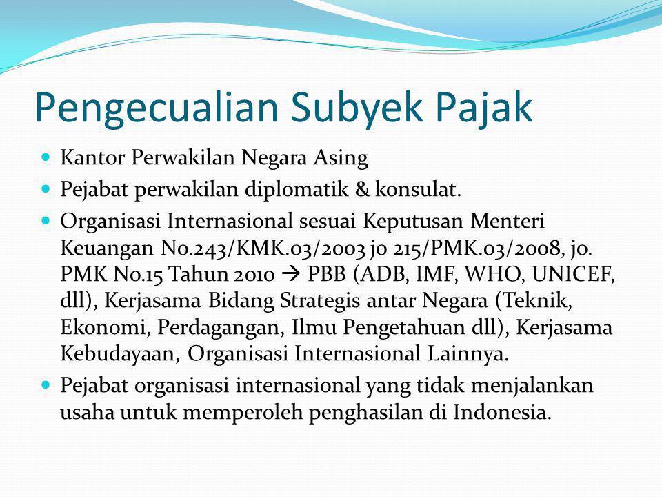 Penghasilan Tidak Kena Pajak NoKeteranganSetahun 1.Diri Wajib Pajak Orang PribadiRp.