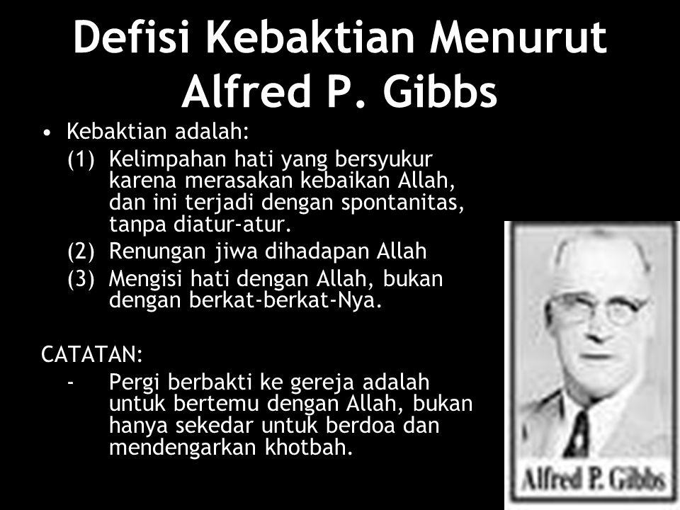Defisi Kebaktian Menurut Alfred P.