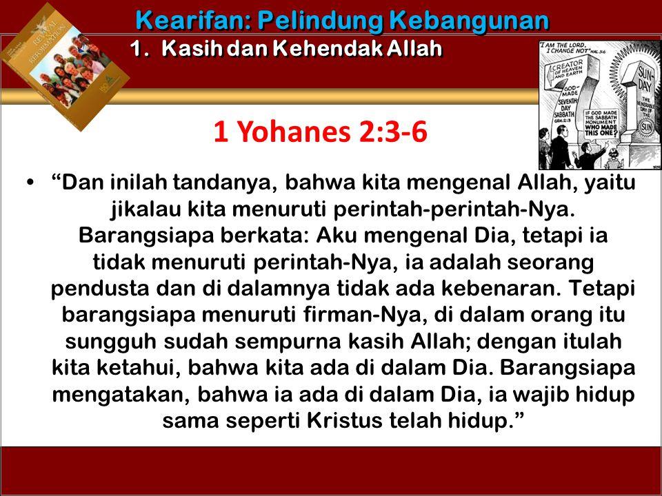 """Dan inilah tandanya, bahwa kita mengenal Allah, yaitu jikalau kita menuruti perintah-perintah-Nya. Barangsiapa berkata: Aku mengenal Dia, tetapi ia t"