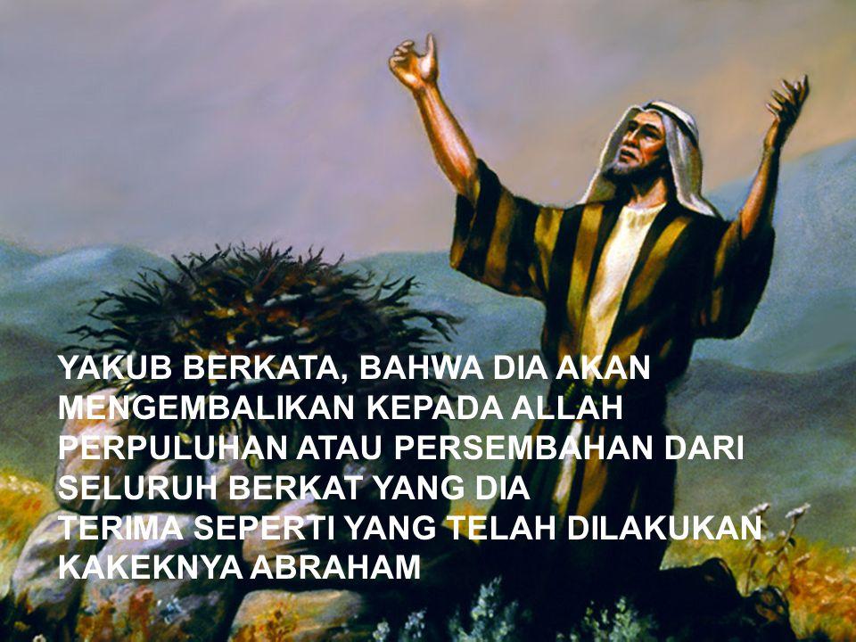 Imamat 27:30 Demikian juga segala persembahan persepuluhan dari tanah, baik dari hasil benih di tanah maupun dari buah pohon-pohonan, adalah milik TUHAN; itulah persembahan kudus bagi TUHAN.