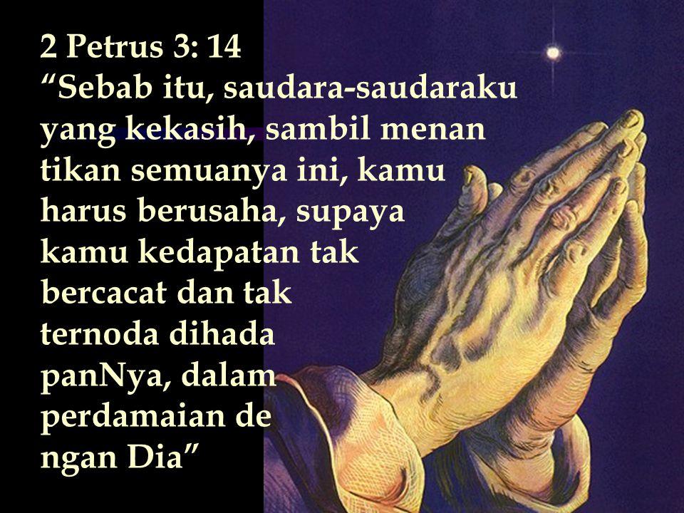 YESAYA 55:6,7 CARILAH TUHAN SELAMA IA BERKENAN DITEMUI BERSERULAH KEPADANYA SELAMA IA DEKAT BAIKLAH ORANG FASIK MENINGGALKAN JALANNYA & ORANG JAHAT MENINGGALKAN RANCANGANNYA BAIKLAH IA KEMBALI KEPADA TUHAN MAKA DIA AKAN MENGASIHANINYA DAN KEPADA ALLAH KITA, SEBAB IA MEMBERI PENGAMPUNAN DENGAN LIMPAHNYA
