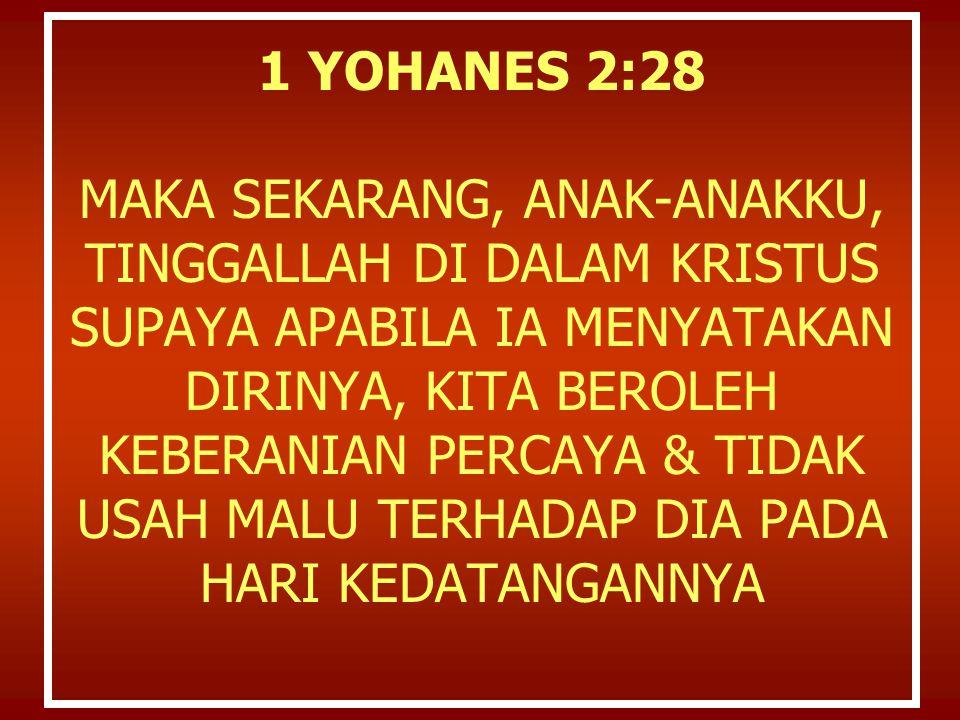 2 Petrus 3: 14 Sebab itu, saudara-saudaraku yang kekasih, sambil menan tikan semuanya ini, kamu harus berusaha, supaya kamu kedapatan tak bercacat dan tak ternoda dihada panNya, dalam perdamaian de ngan Dia