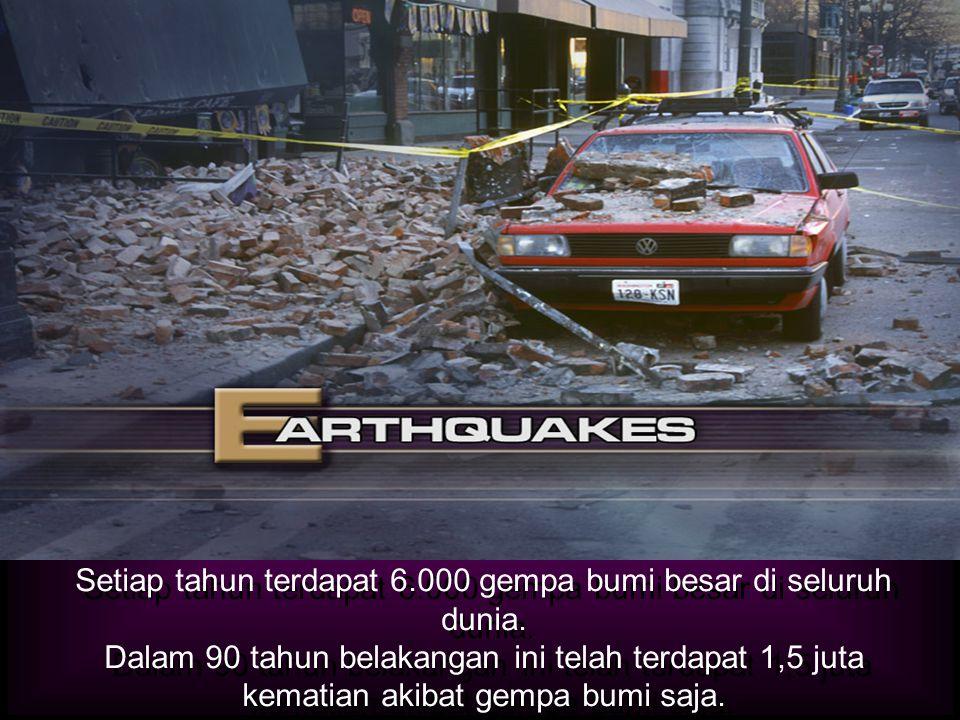 LUKAS 21:11 Dan akan terjadi gempa bumi yg dahsyat di berbagai tempat.