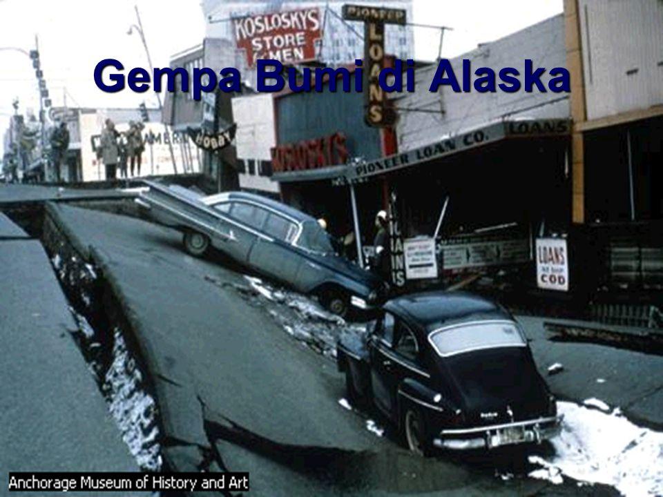 Gempa bumi di Achorage, Alaska Maret 27, 1964