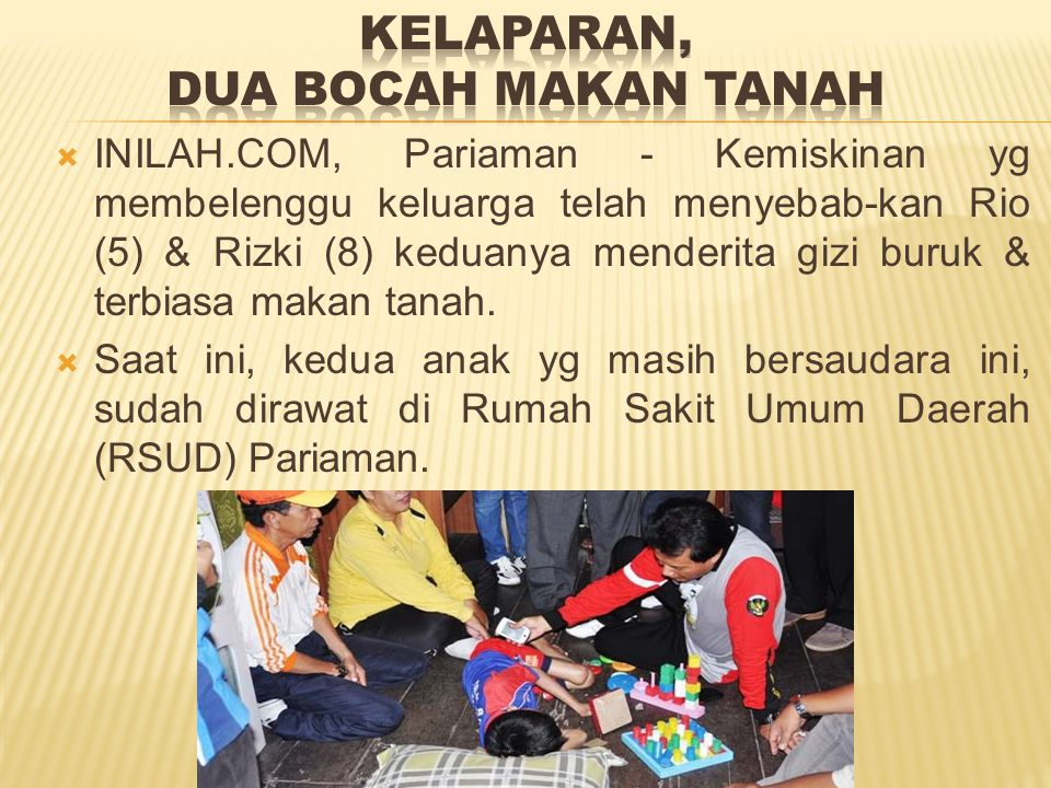 Akibat Tsunami di Aceh