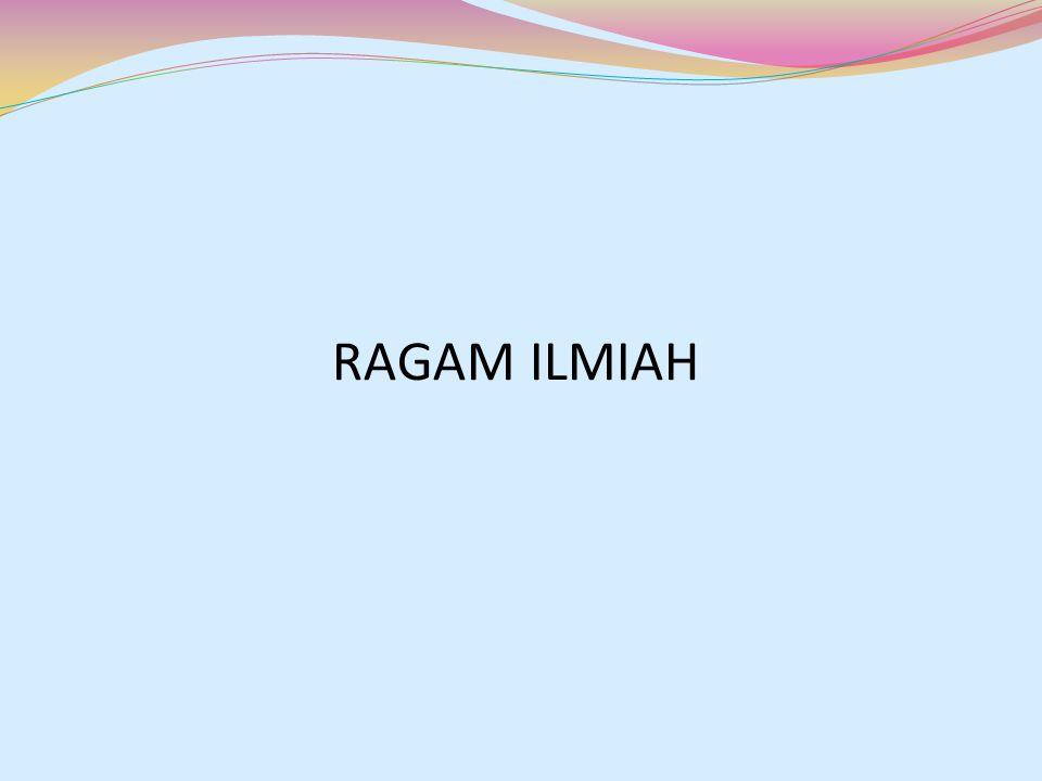 RAGAM ILMIAH