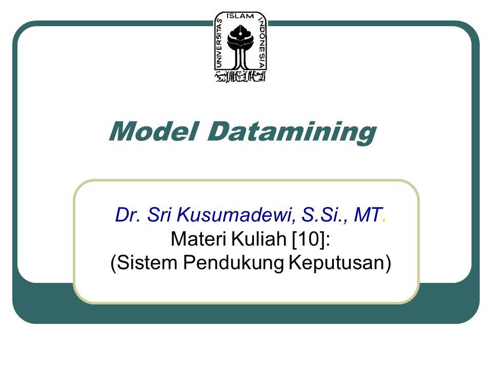 Model Datamining Dr. Sri Kusumadewi, S.Si., MT. Materi Kuliah [10]: (Sistem Pendukung Keputusan)