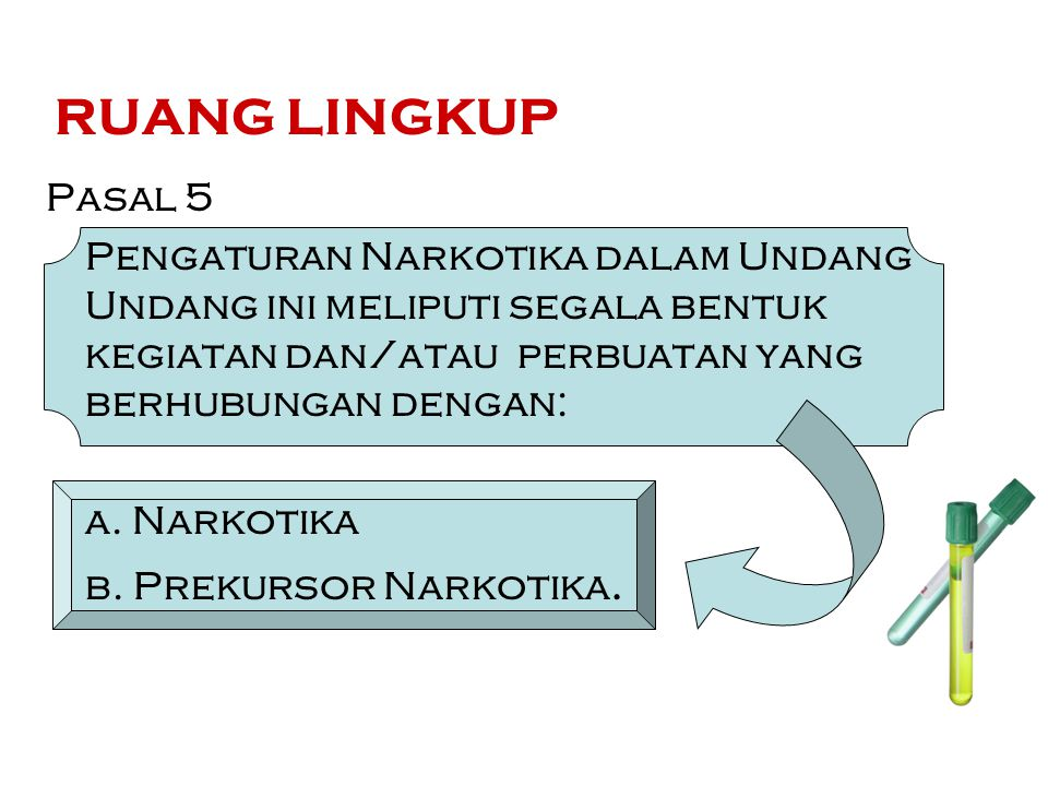 Surat Persetujuan Ekspor (Pasal 19) (1) Eksportir Narkotika harus memiliki Surat Persetujuan Ekspor dari Menteri untuk setiap kali melakukan ekspor Narkotika.
