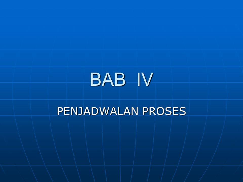 BAB IV PENJADWALAN PROSES