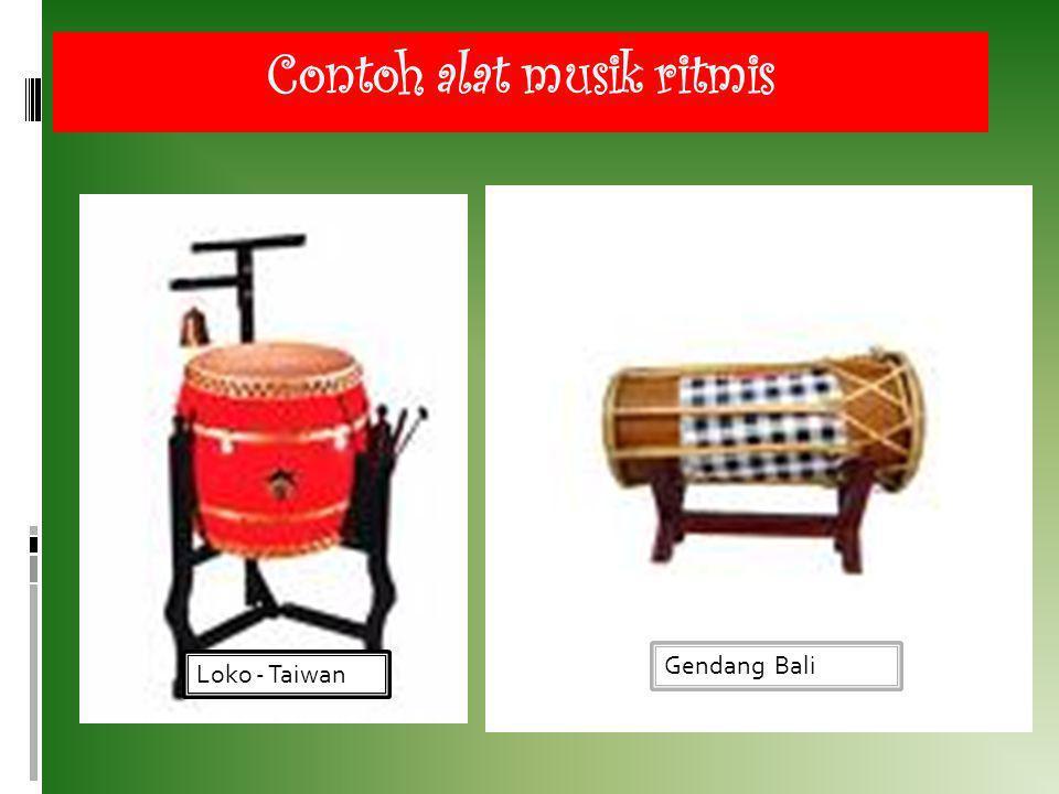 Contoh alat musik ritmis Loko - Taiwan Gendang Bali