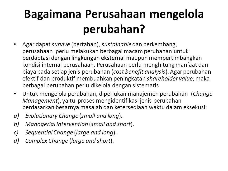 Bagaimana Perusahaan mengelola perubahan.