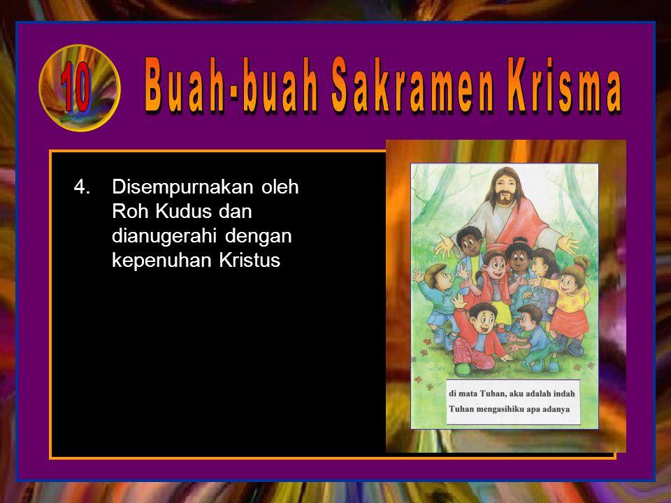 1.Memiliki kasih yang berkobar kepada Kristus, ingin ikut serta dalam karyaNya 2.Menjadi anak-anak Allah dengan lebih sungguh, berani menjadi saksi Kr