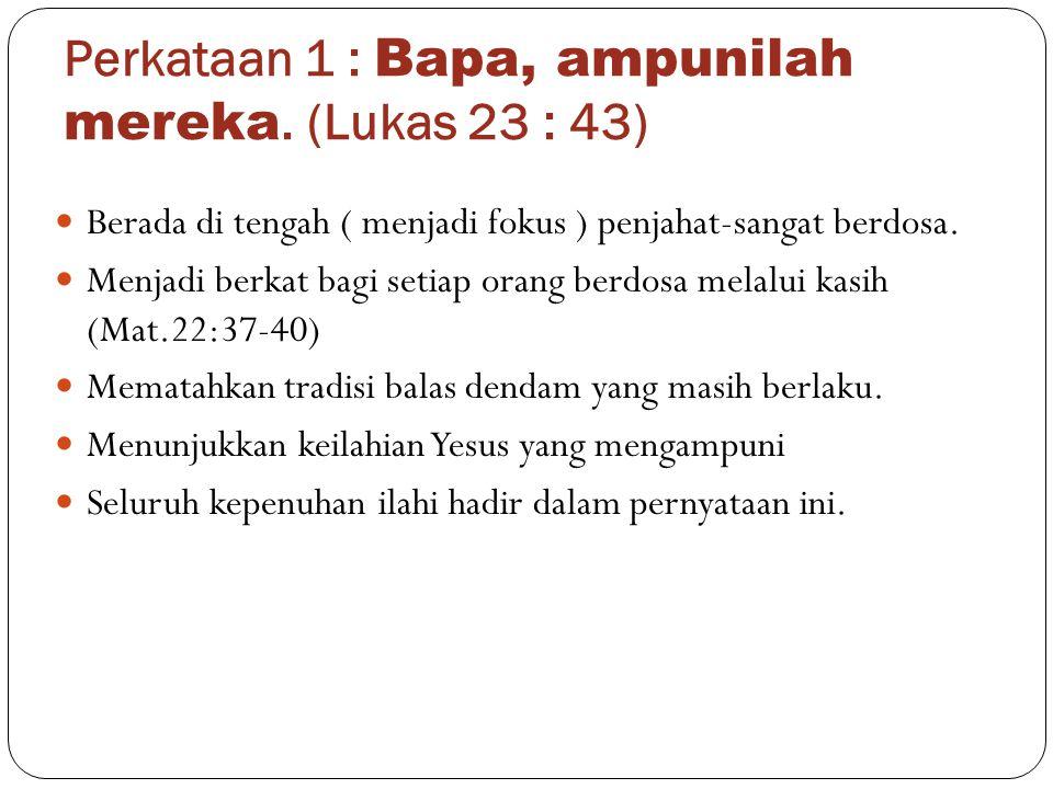 Aplikasi.Adakah pernyataan maaf dalam hidup sebagai umat Tuhan ( Gal.