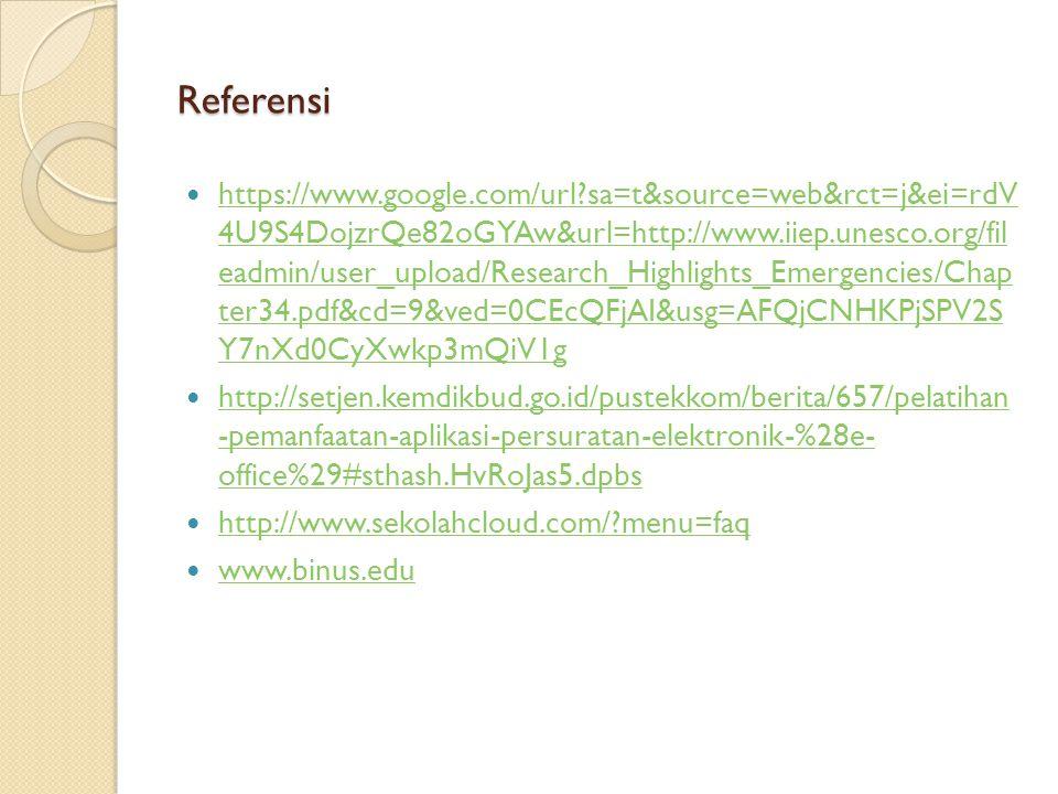 Referensi https://www.google.com/url?sa=t&source=web&rct=j&ei=rdV 4U9S4DojzrQe82oGYAw&url=http://www.iiep.unesco.org/fil eadmin/user_upload/Research_H