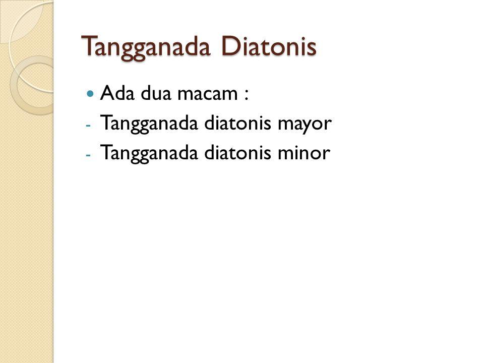 Tangganada Diatonis Ada dua macam : - Tangganada diatonis mayor - Tangganada diatonis minor