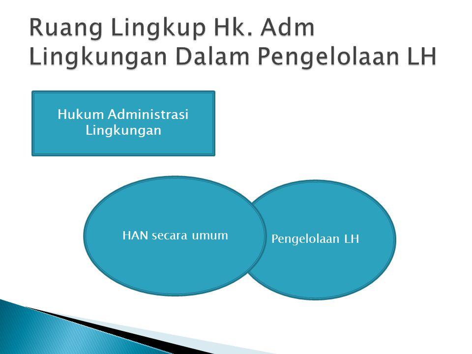 Hukum Administrasi Lingkungan Pengelolaan LH HAN secara umum