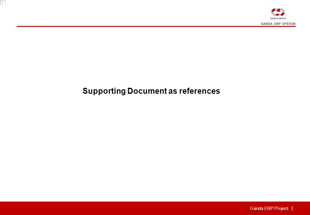 Ganda ERP Project | Supporting Document as references